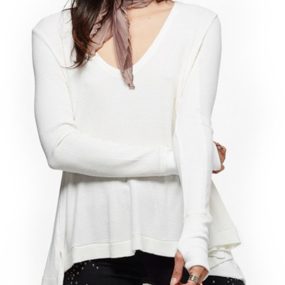 Free People Tops - New Free People white Malibu' Thermal Top. size XS